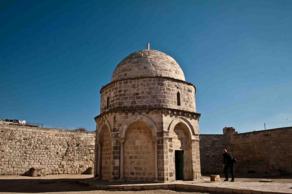 Chapel of the Ascension of Jesus at Mount of Olives in Jerusalem