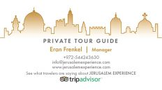 Private Tour Guide in Jerusalem