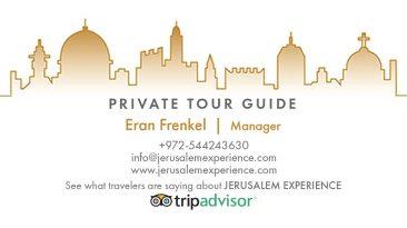 Private Tour Guide in Jerusalem