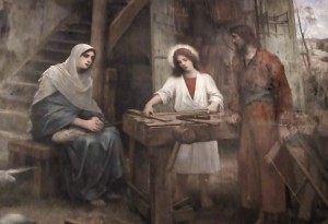 The Holy Family at the Carpenter's workshop