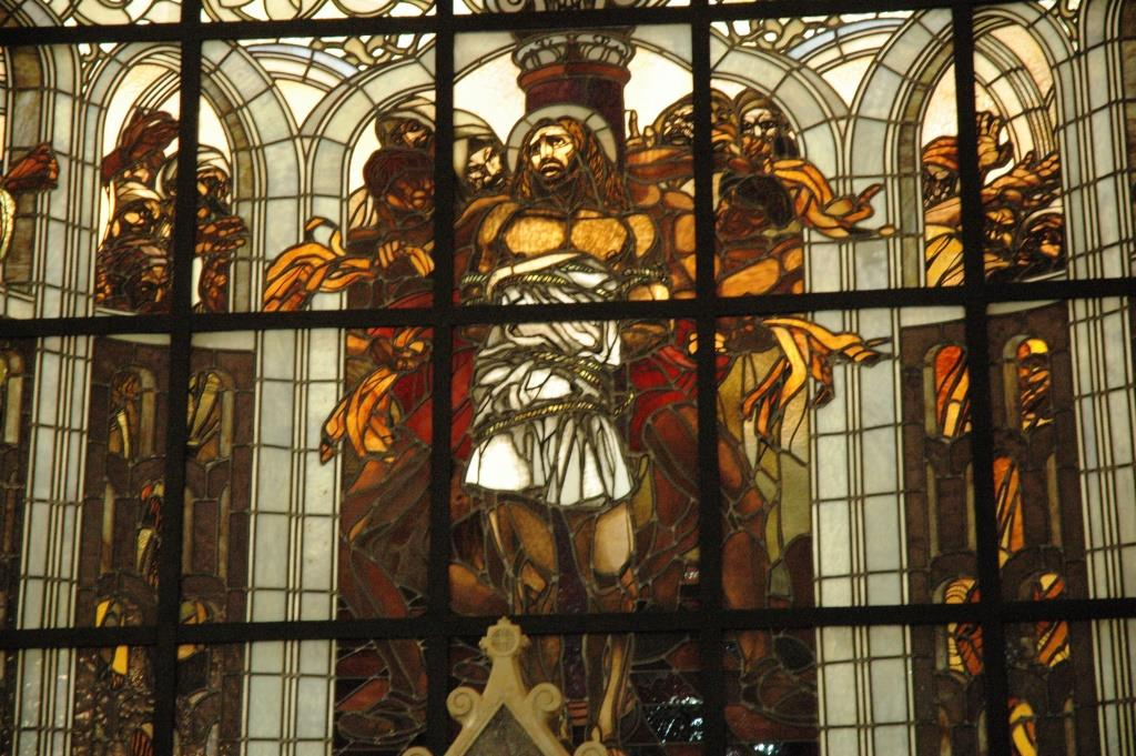 The scourging of Jesus by the Roman soldier