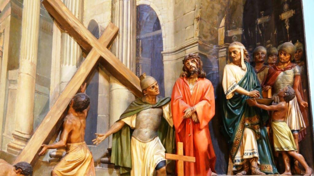 Station 2 via Dolorosa - The Roman Soldiers impose the Cross on Jesus