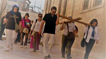 The Via Dolorosa - the 14 stations of the Cross