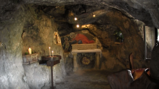 The Grotto where John the Baptist during his time in the wilderness