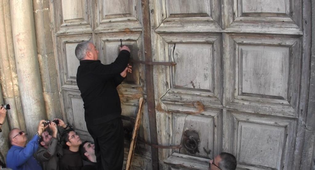Opening the Doors of the Church of the Holy Sepulchre